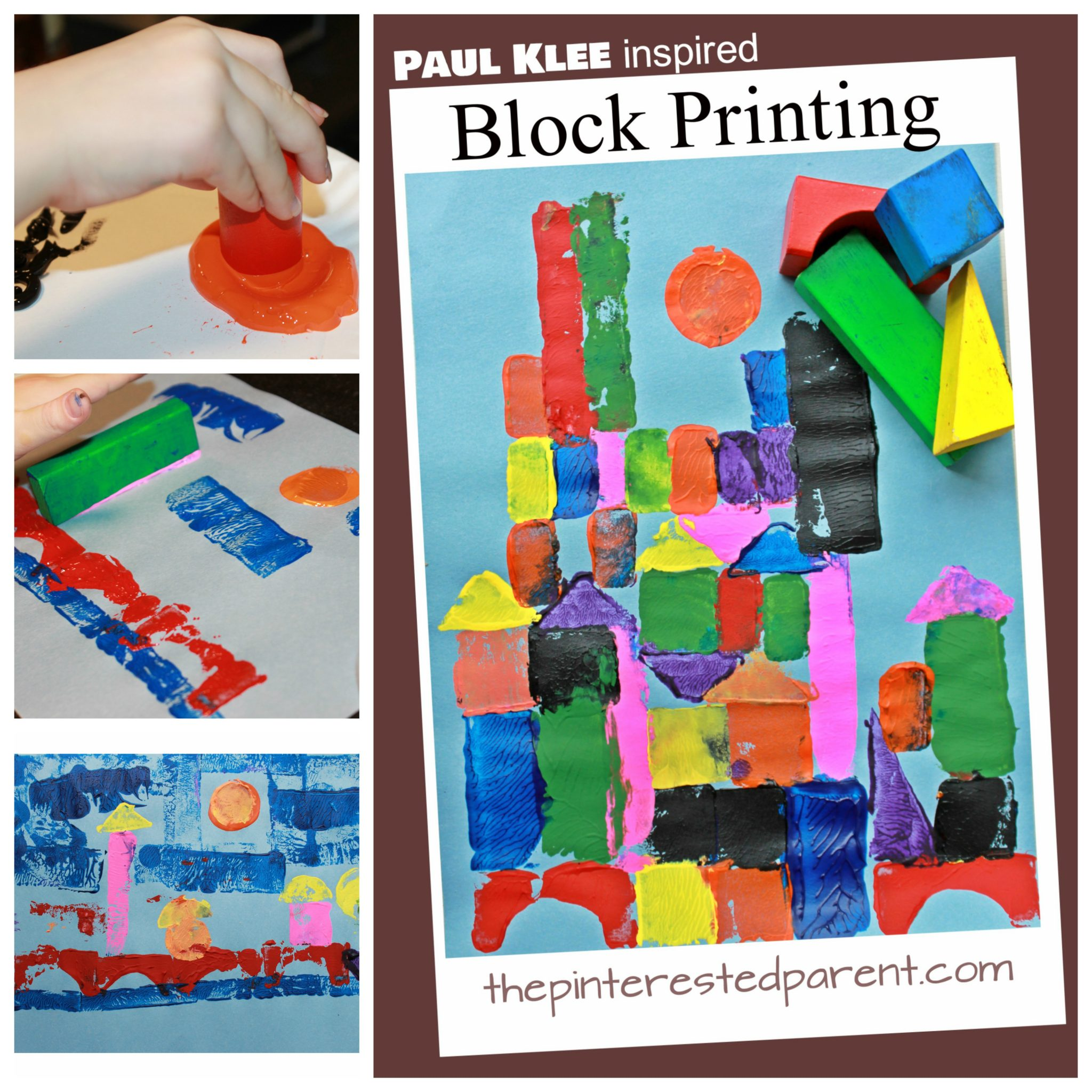 Paul Klee Inspired Block Printing The Pinterested Parent