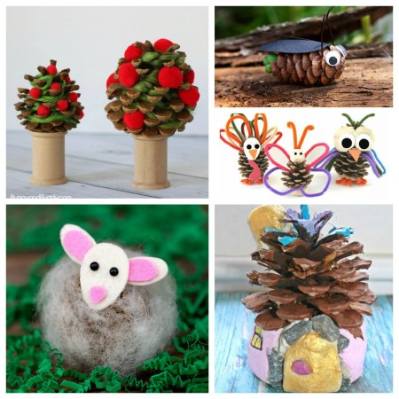 18 Gorgeous pine cone crafts. Nature arts and crafts for kids.