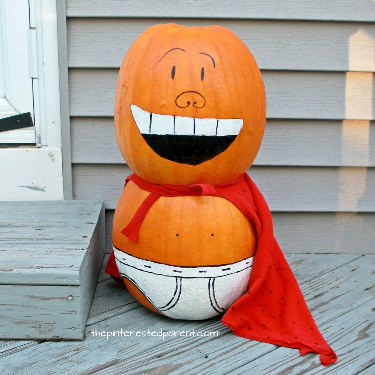 Painted Captain Underpants Pumpkin