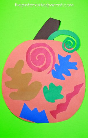 Matisse Inspired Pumpkin Craft. See all of our artist inspired pumpkin ideas. Fall and Halloween crafts for kids.