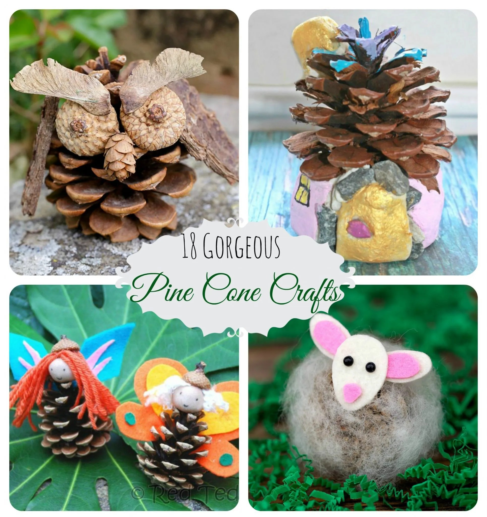 18 Gorgeous Pine Cone Crafts The Pinterested Parent