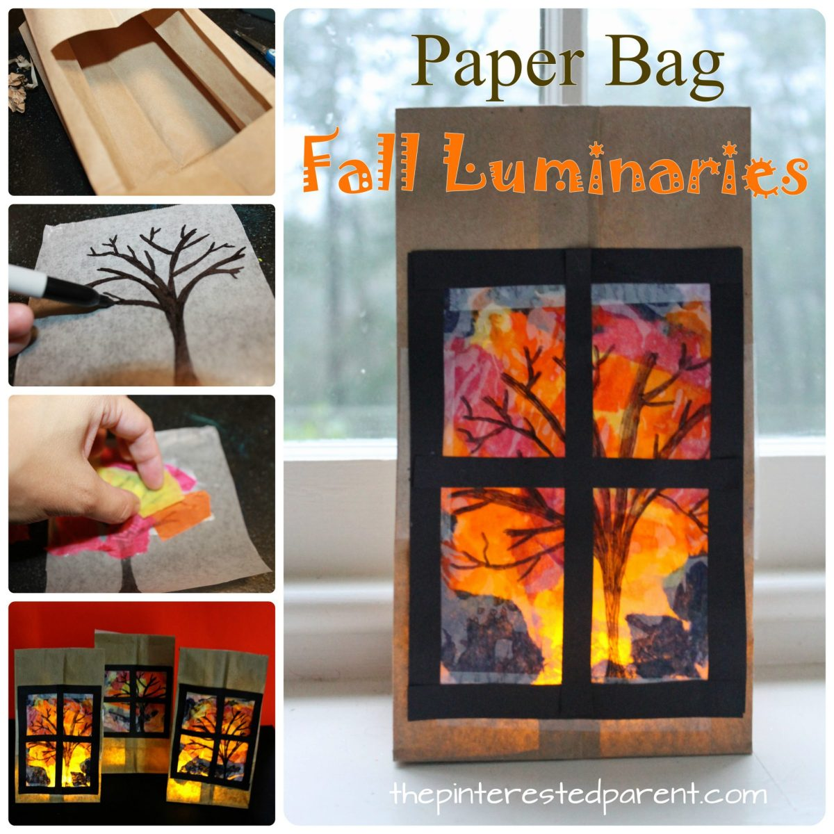Paper Bag Fall Luminaries