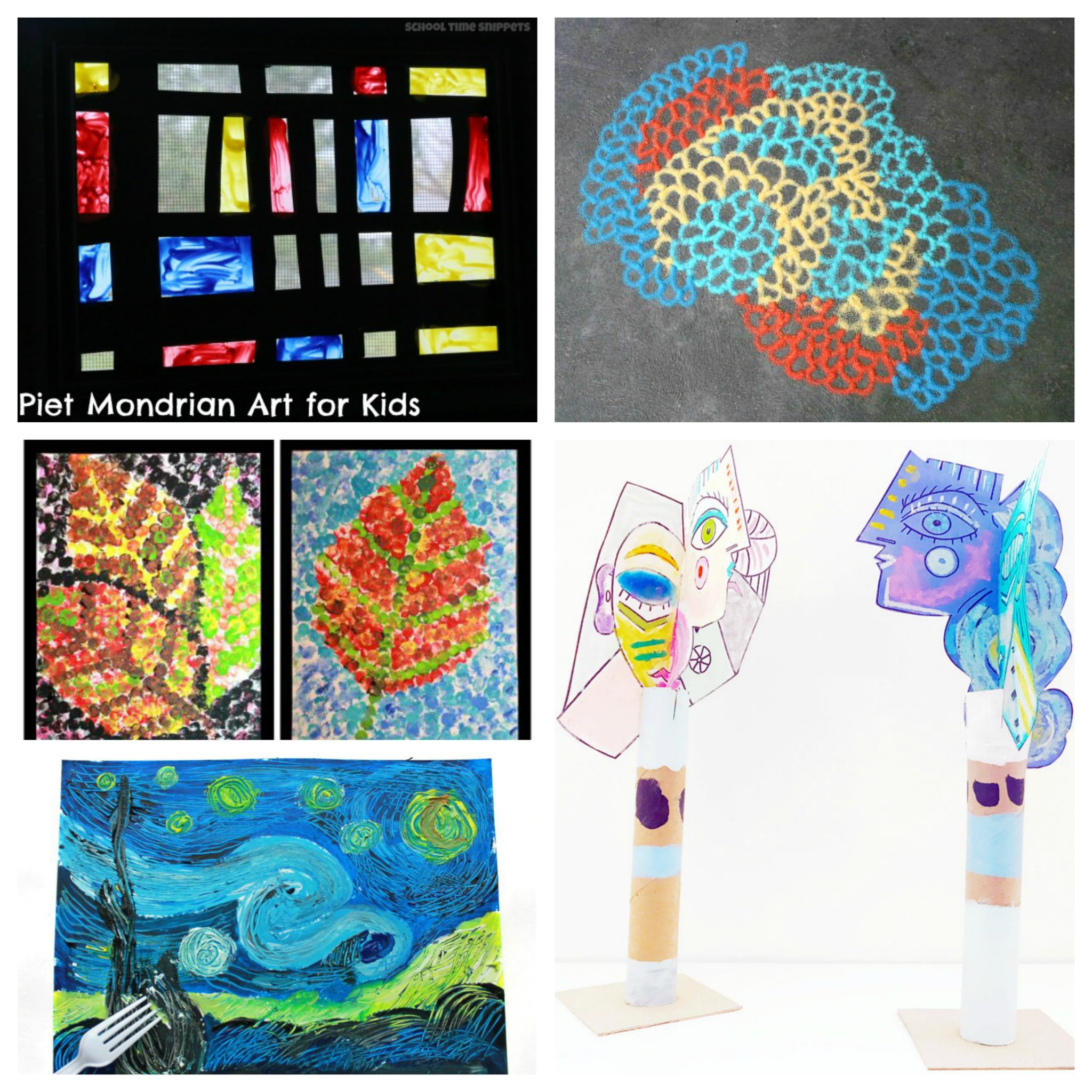 30 Artist Inspired Art Projects For Kids The Pinterested Parent