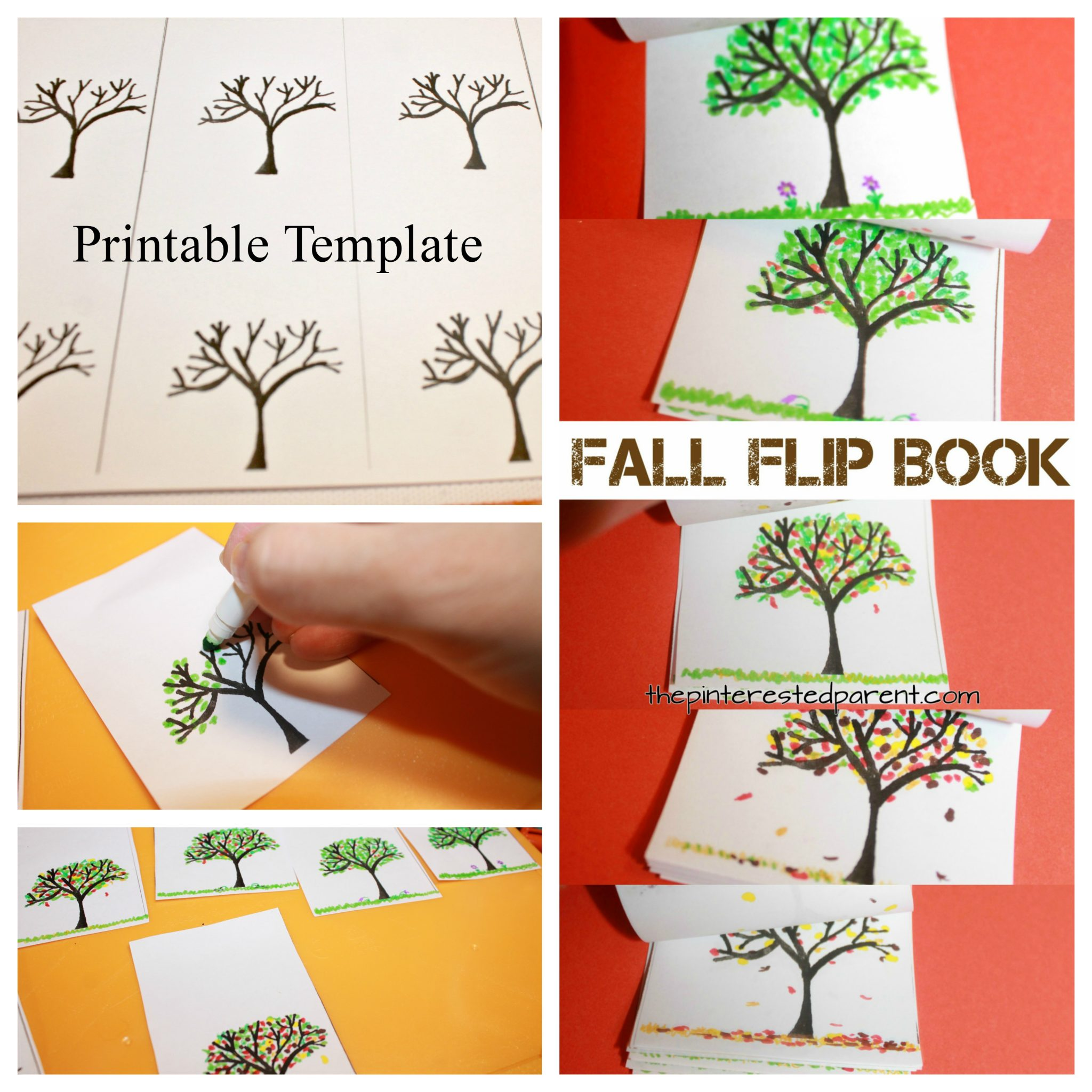picture relating to Printable Flip Books identified as Slide Tree Change Ebook The Pinterested Mum or dad