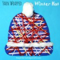 Yarn wrapped winter hats crafts, wonderful for fine motor skills - kids arts and crafts for the winter
