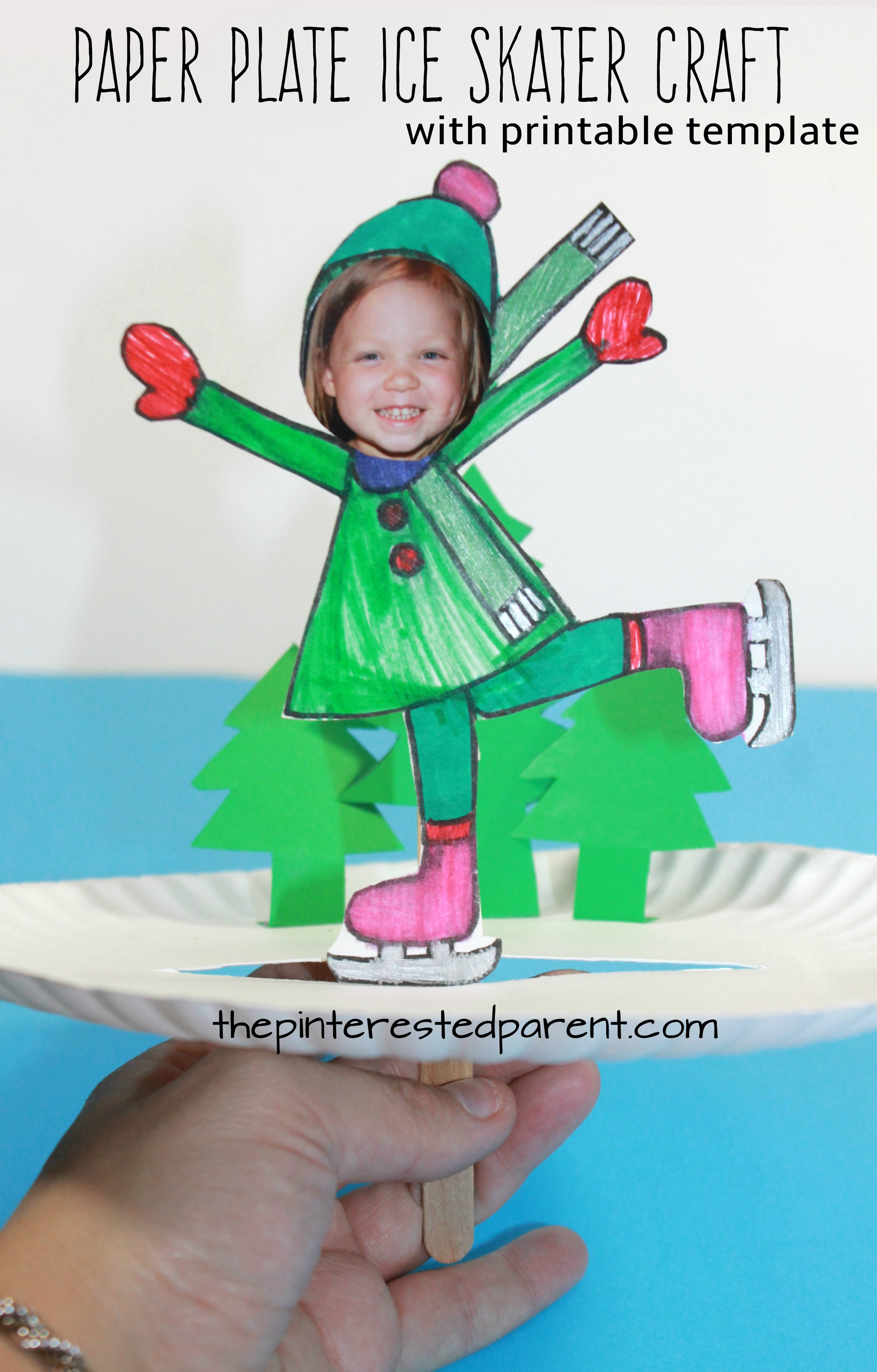 paper plate ice skate craft the pinterested parent