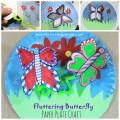 Paper Plate Fluttering Butterfly Craft. Make your butterflies fly with a little shake. Great kids arts and crafts project for kids for the spring or summer