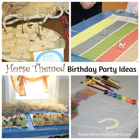 Horse themed party ideas for a kid's birthday party. Decorations and activities for a fun party. Spirit Riding Free