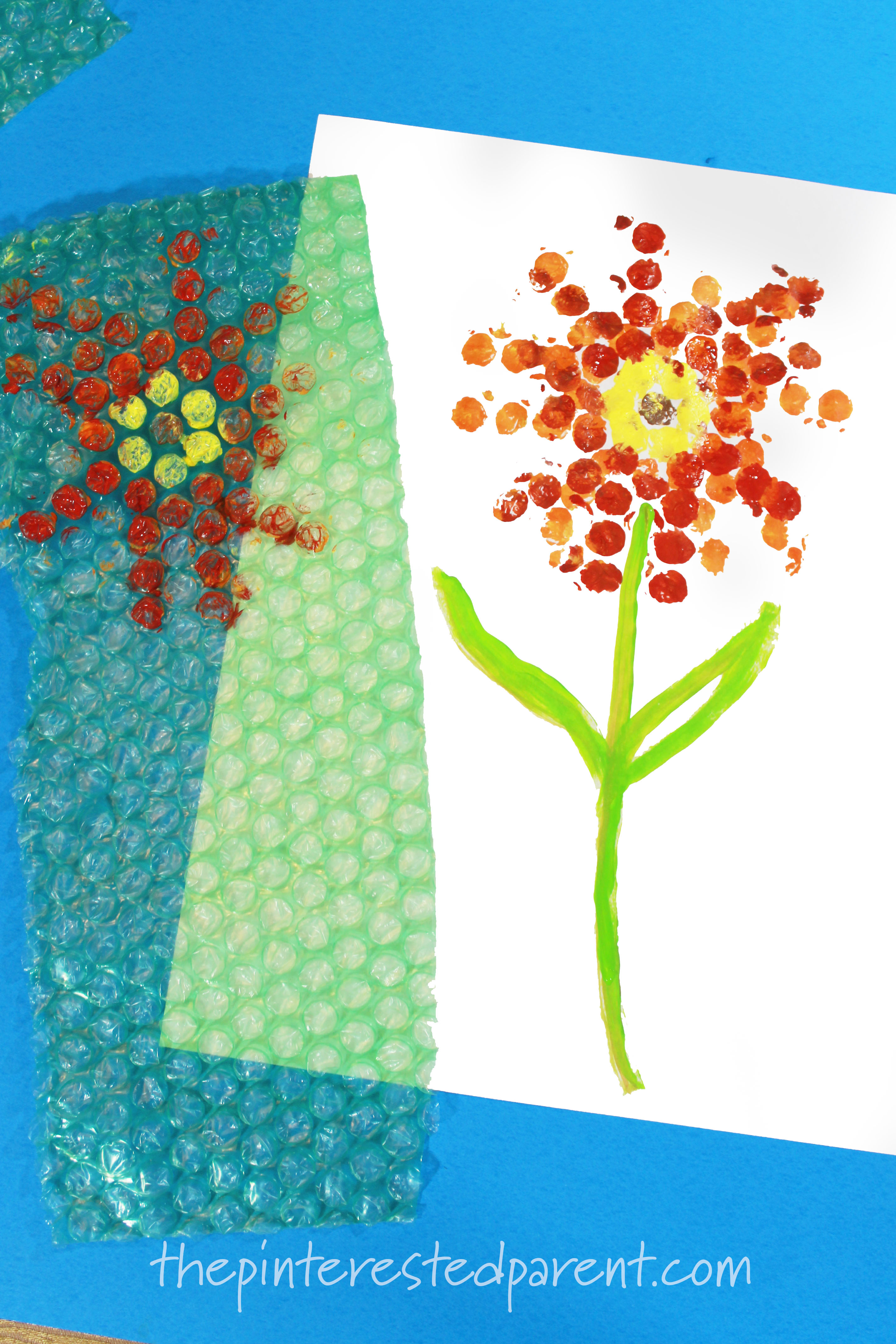 bubble wrap printed flowers  u2013 the pinterested parent