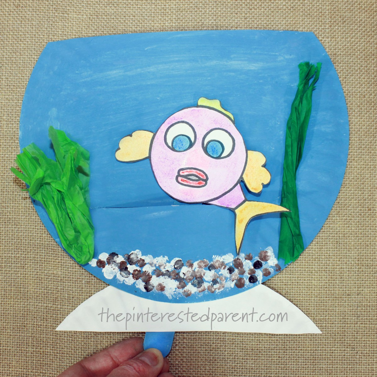 Paper Plate Swimming Fish