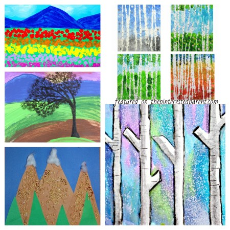 Beautiful Landscape Projects for Kids - #painting #watercolors #landscape #art #kids #paper #techniques #crafts