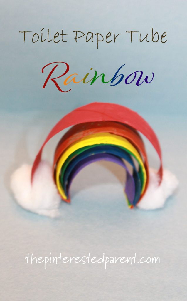 Toilet Paper Tube Rainbow spring craft for the kids.