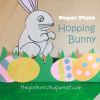 Paper Plate Hopping Bunny