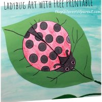Ladybug Art with Free Printable