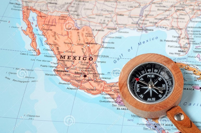 travel-destination-mexico-map-compass-pointing-planning-43010612