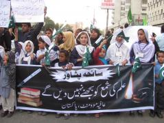 rally at peshawar attack