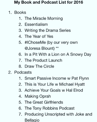 These Books and Podcasts Helped Shape My Success in 2016!