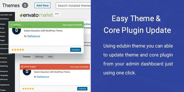 One Click Theme Update - Envato Market