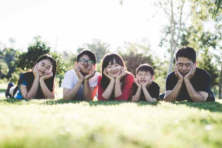cute japanese family photo