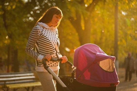newborn baby with stroller pictures