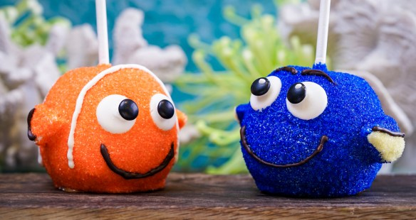 Nemo and Dory Apples at Pixar Fest