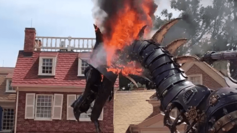 Breaking: Festival of Fantasy Dragon Catches Fire During Parade