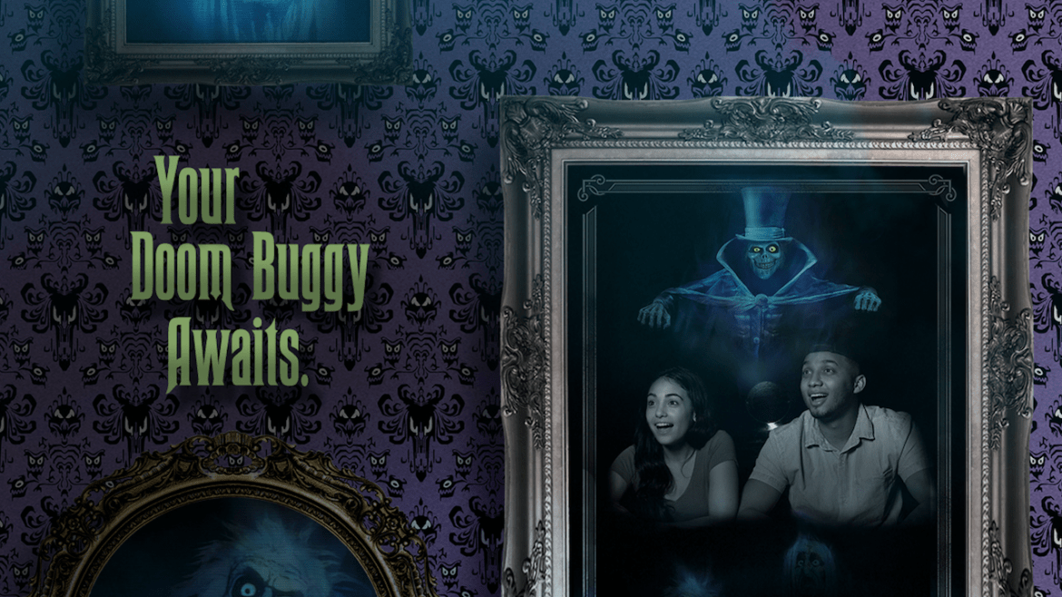 Starting Today PhotoPass will Capture your Haunted Mansion Doom Buggy Ride