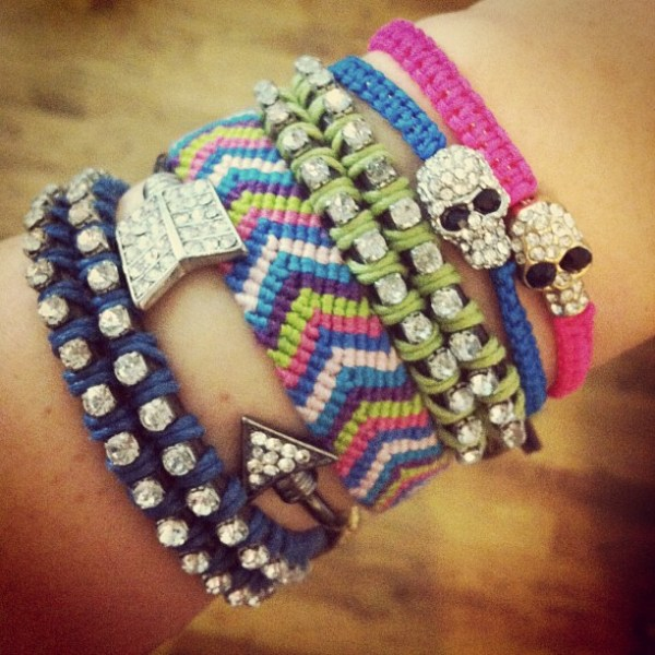 diy bracelets, urban outfitters, skulls, ruby and jenna