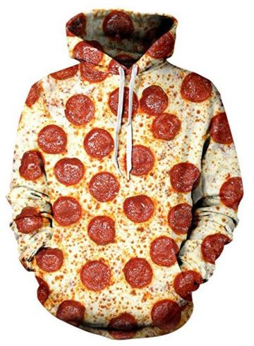 Pizza Hoodie Pizza Sweater Pizza Sweatshirt, Pizza Pullover