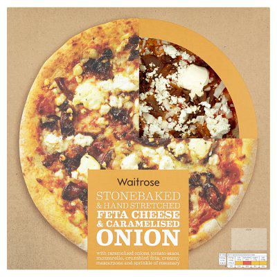 Feta Cheese & Caramelised Onion Pizza Review, Pizza Waitrose Review
