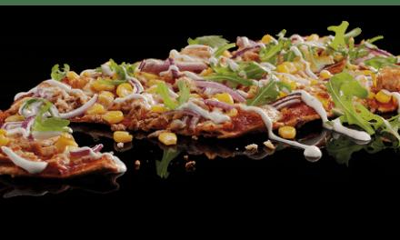 Tuna & Sweetcorn Flat Bread Pizza from Pizza Hut