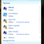 Step 2a: Your Live Mesh device window