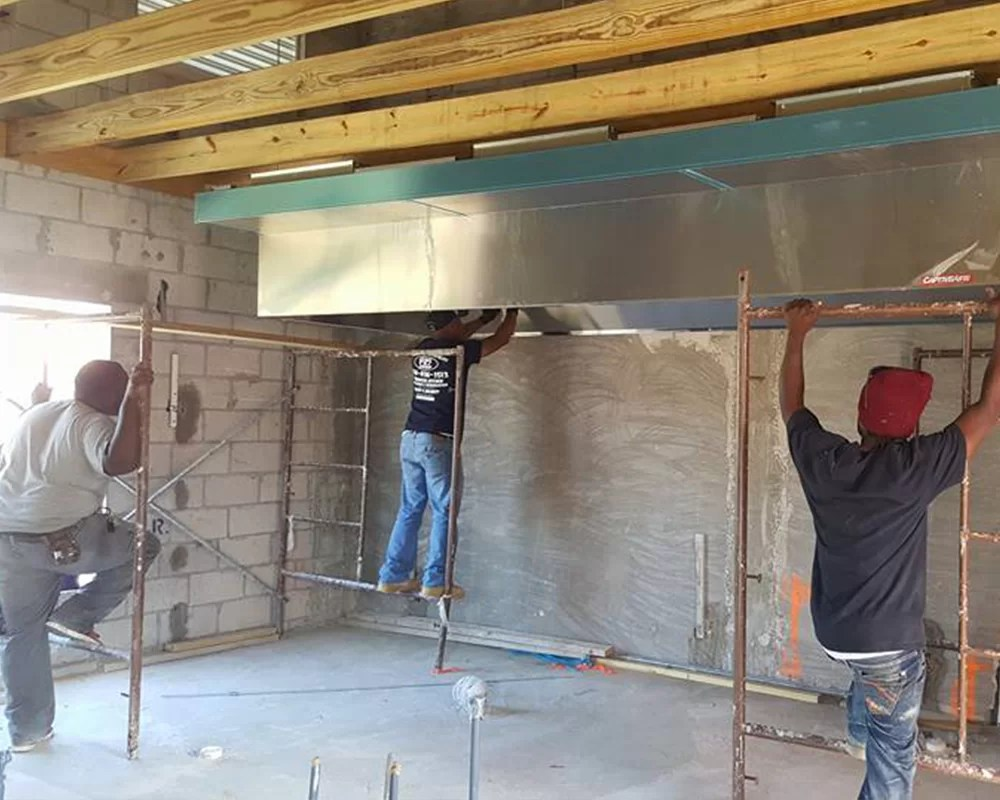 commercial kitchen hood installation cabinets financing bahamas paradise island