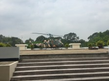 Chopper on top of Reunification Palace