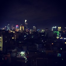 View of Saigon from the roof top bar