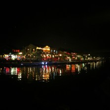 Hoi An Ancient town lights across the river