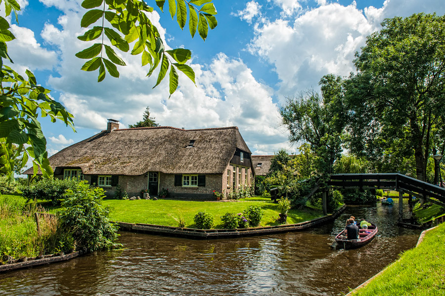 This Dutch village with canals instead of roads is the