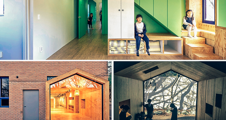 South Korean architects turned this abandoned mansion into an active childrens centre