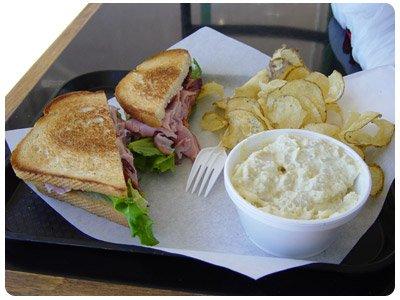 sandwich from Pepper's Deli