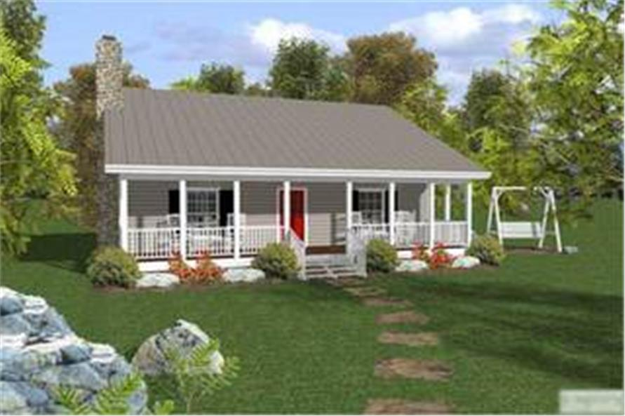 Small Ranch House Plan - Two Bedrooms, One Bathroom