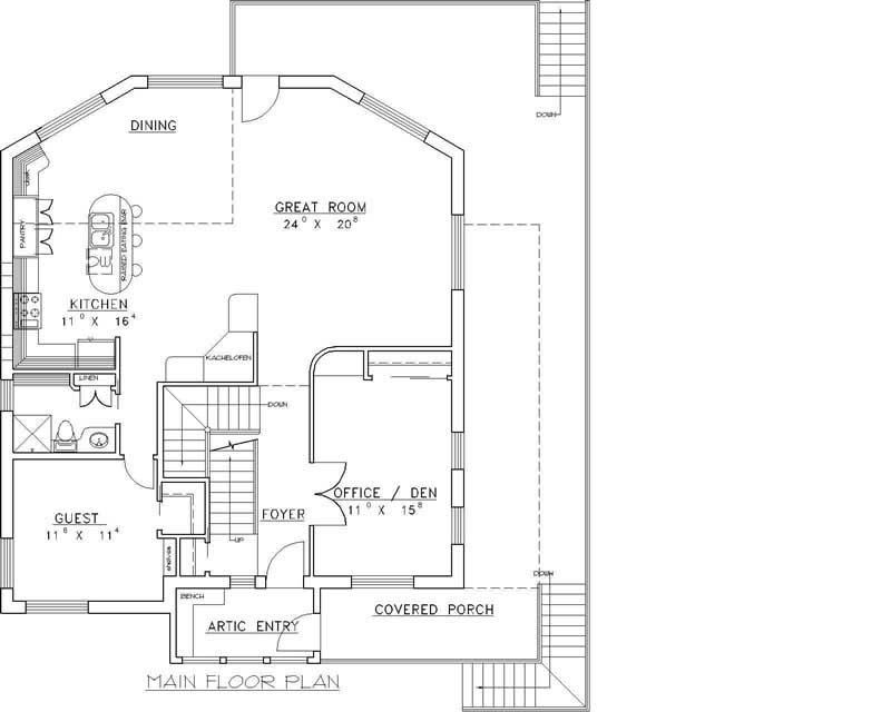 Cabin Home With 3 Bdrms, 2745 Sq Ft
