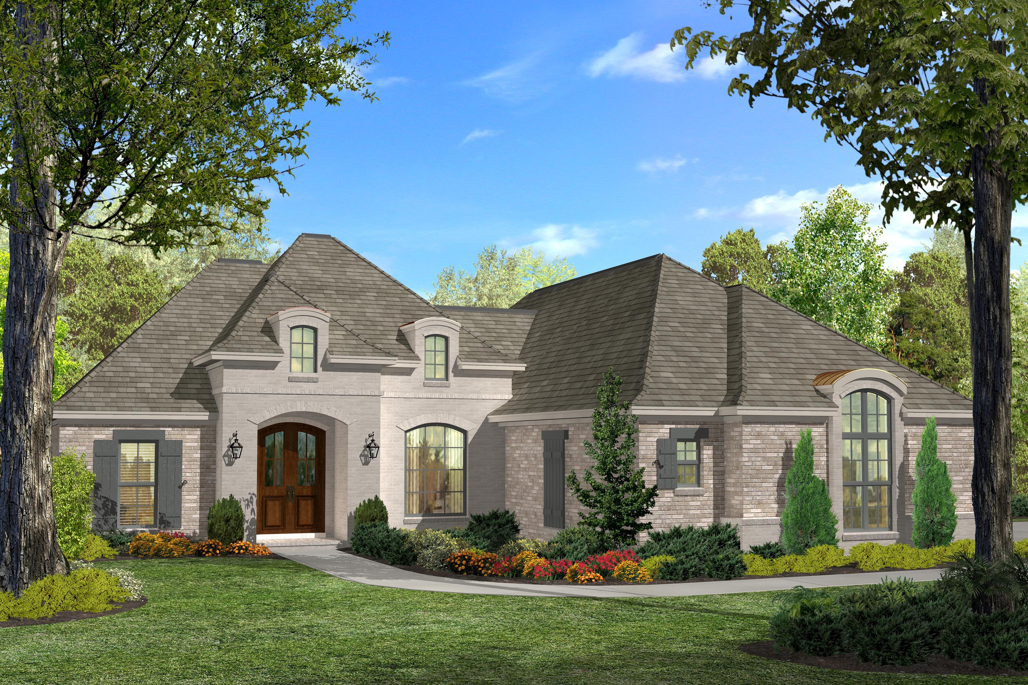 Acadian House Plan #142-1124: 3 Bedrm, 1937 Sq Ft Home