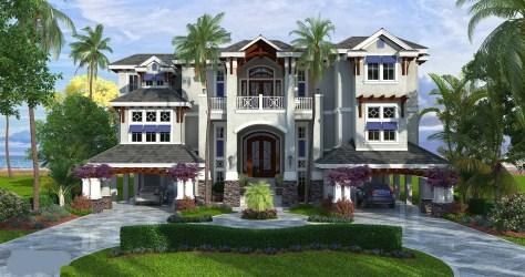 caribbean coastal plans story florida floor homes luxury plan beach cottage three garage mediterranean sims weber ft sq contemporary architecture