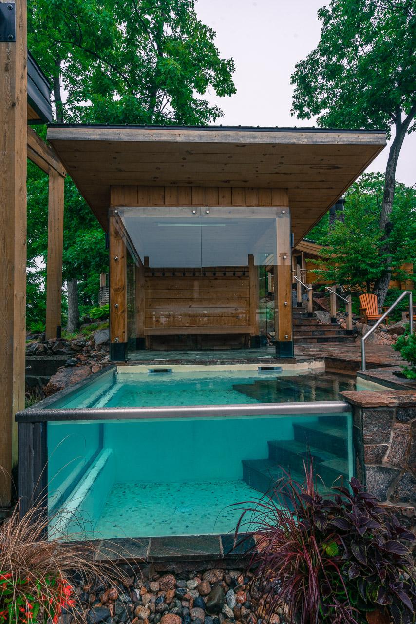 The cold pool at Nordik Spa Ottawa
