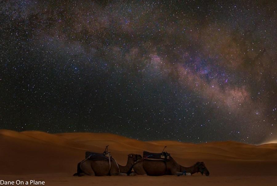 visit morocco milky way over desert desert