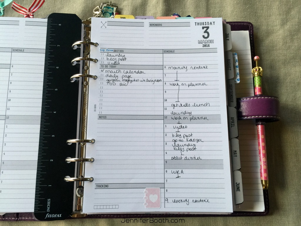 Daily layout
