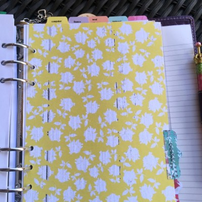 A Closer Look Inside My Planner-Reference Section