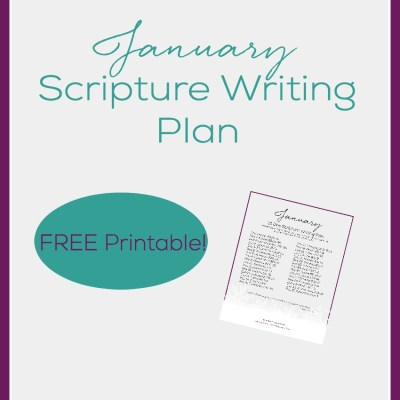 January Scripture Writing Plan