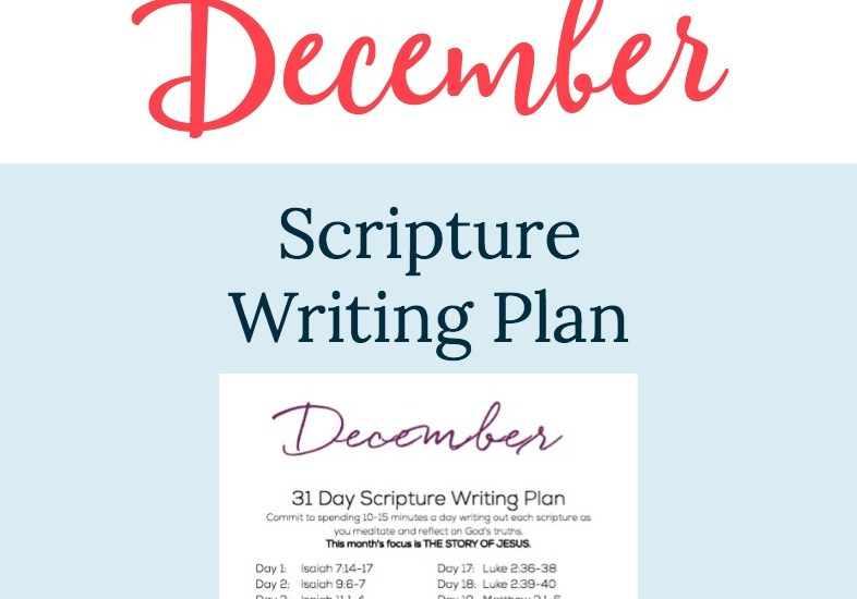 December Scripture Writing Plan
