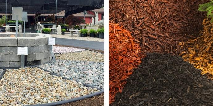 Organic and inorganic mulch.